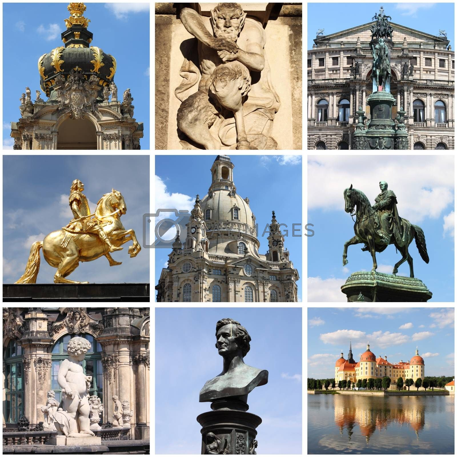 Dresden landmarks collage by alessandro0770