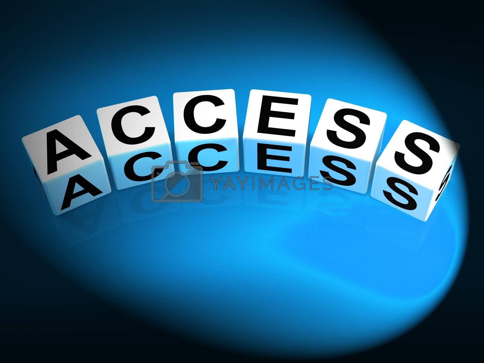 Access Dice Show Admittance Accessibility and Entry by stuartmiles