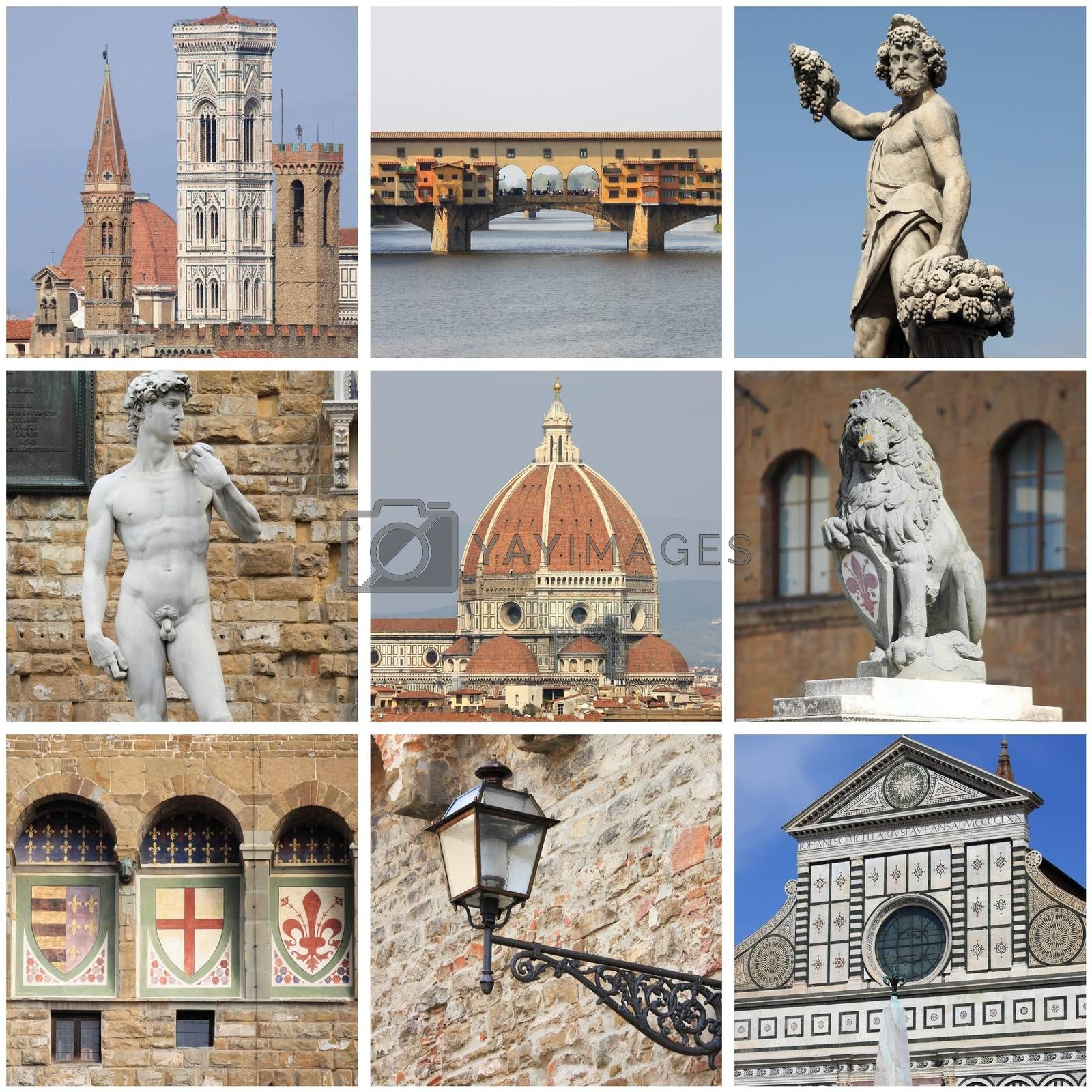 Florence landmarks collage by alessandro0770