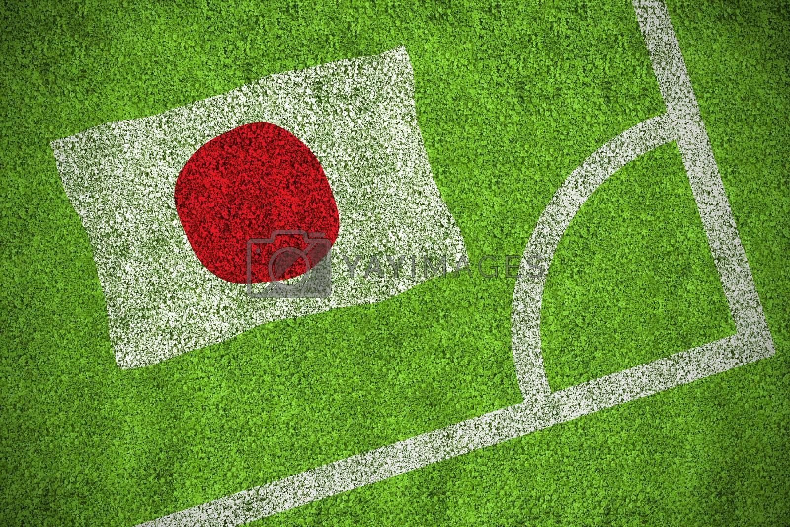 Japan national flag by Wavebreakmedia