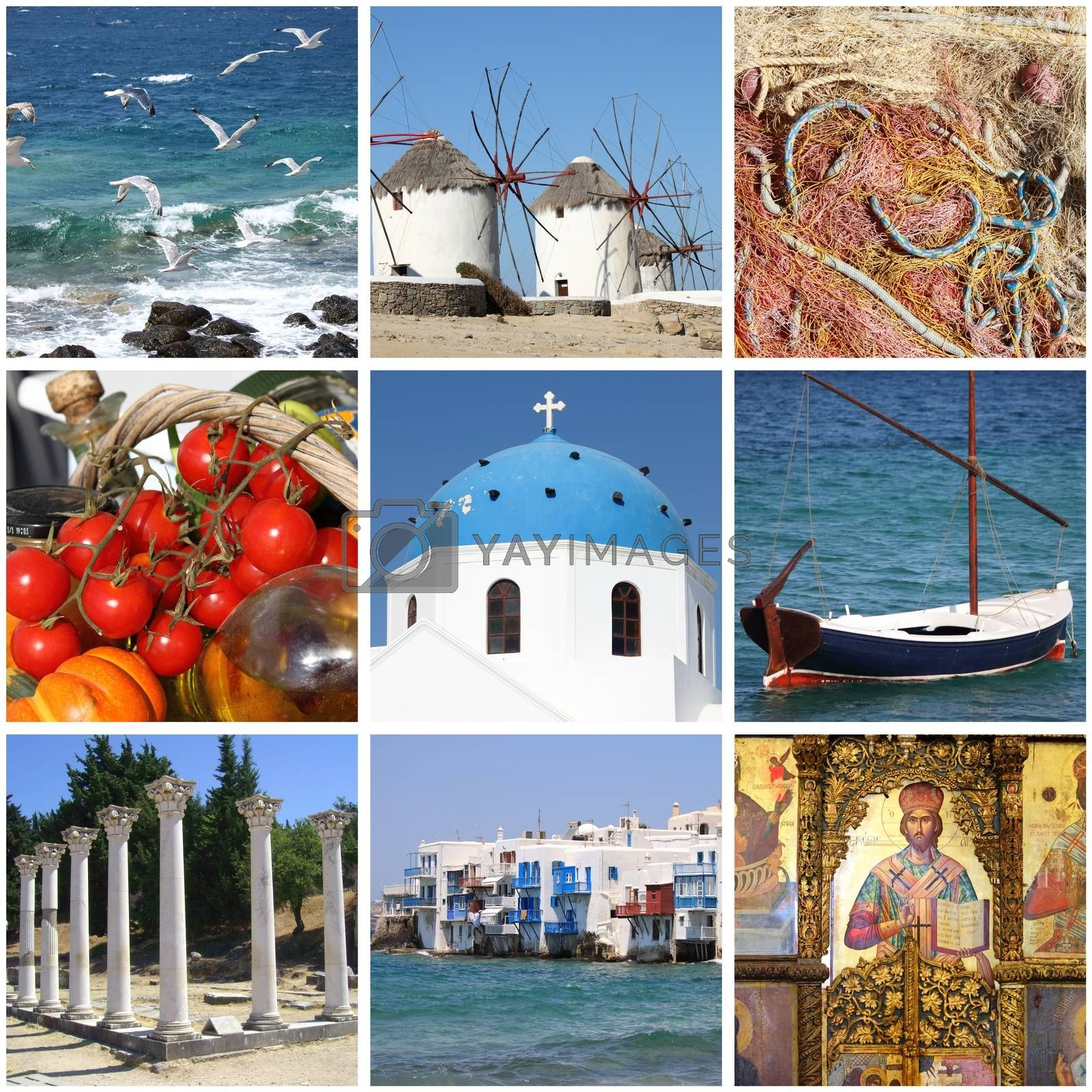 Greece landmarks collage by alessandro0770