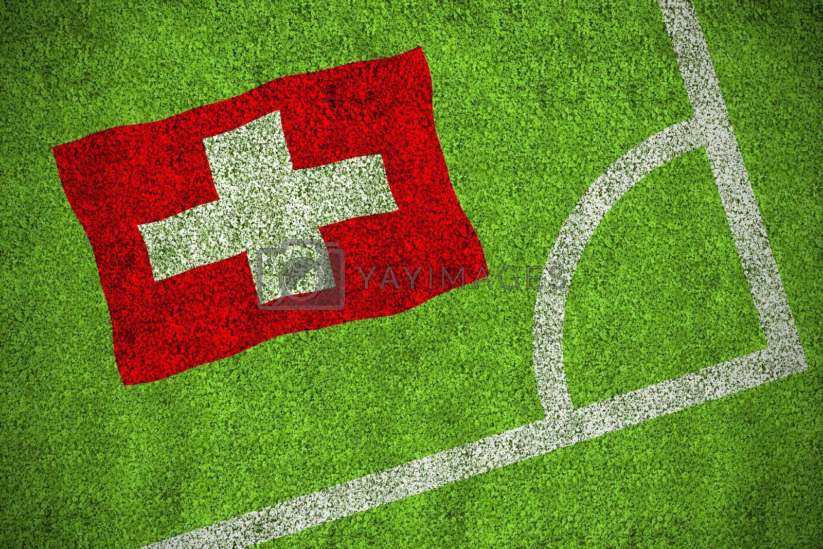 Switzerland national flag by Wavebreakmedia