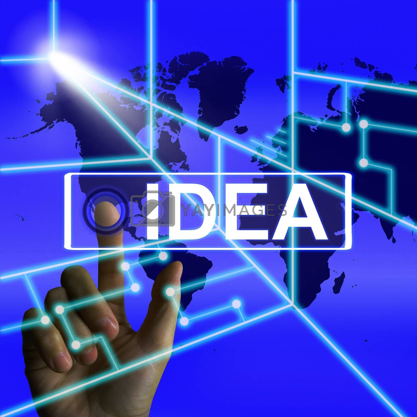 Idea Screen Means Worldwide Concept Thought or Ideas by stuartmiles
