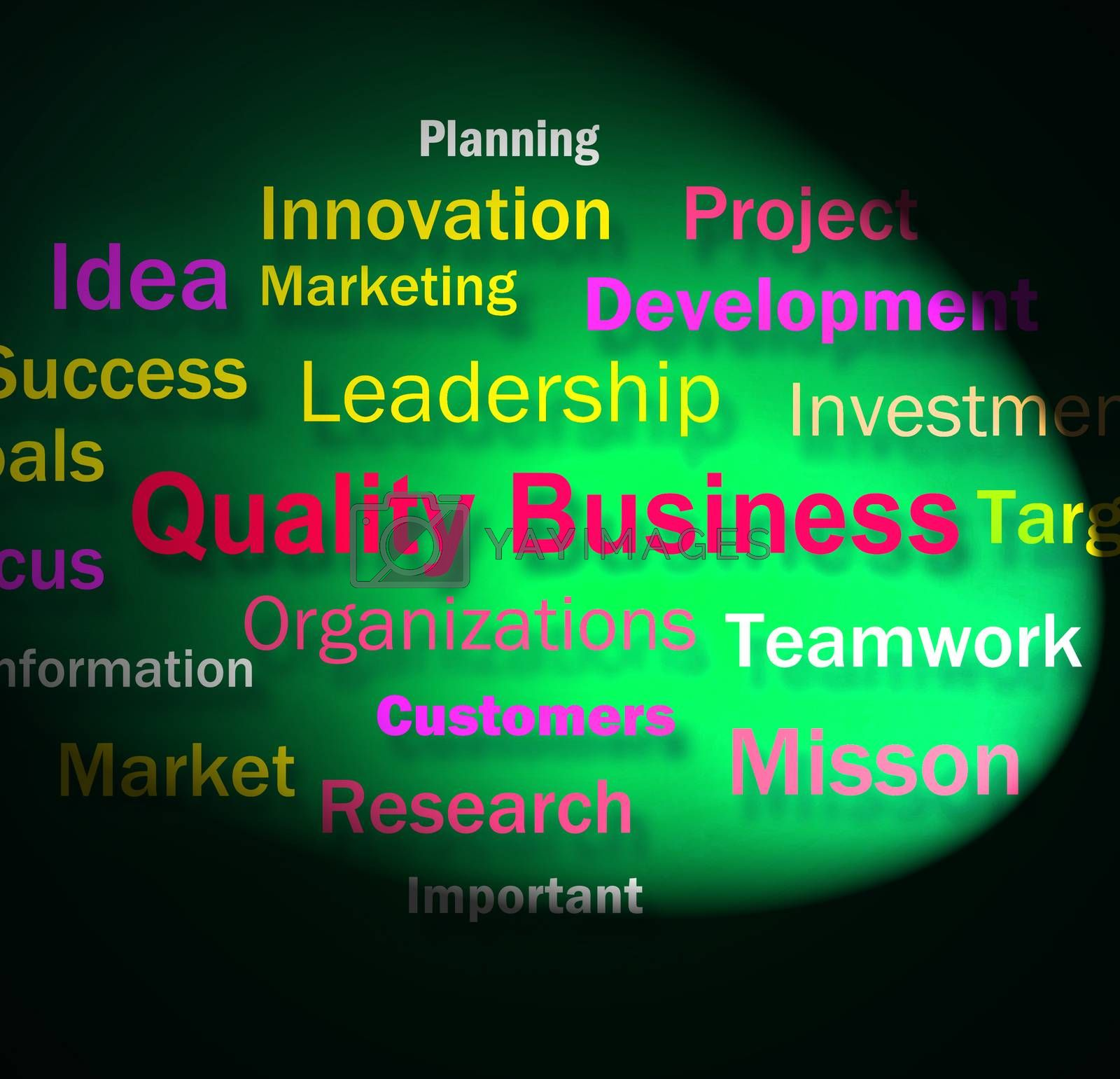 Quality Business Words Means Excellent Company Reputation by stuartmiles