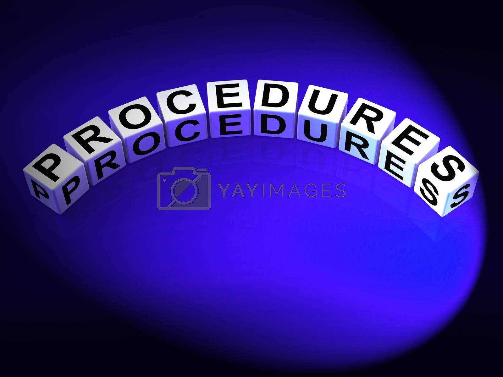 Procedures Dice Represent Strategic Process and Steps by stuartmiles