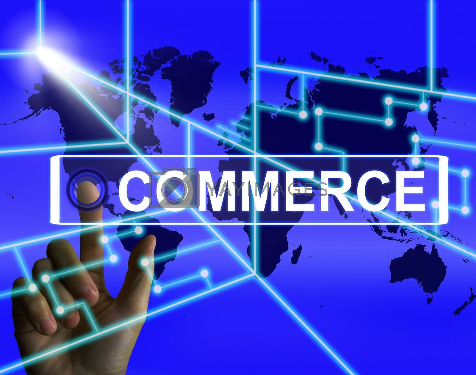Commerce Screen Shows Worldwide Commercial and Financial Busines by stuartmiles
