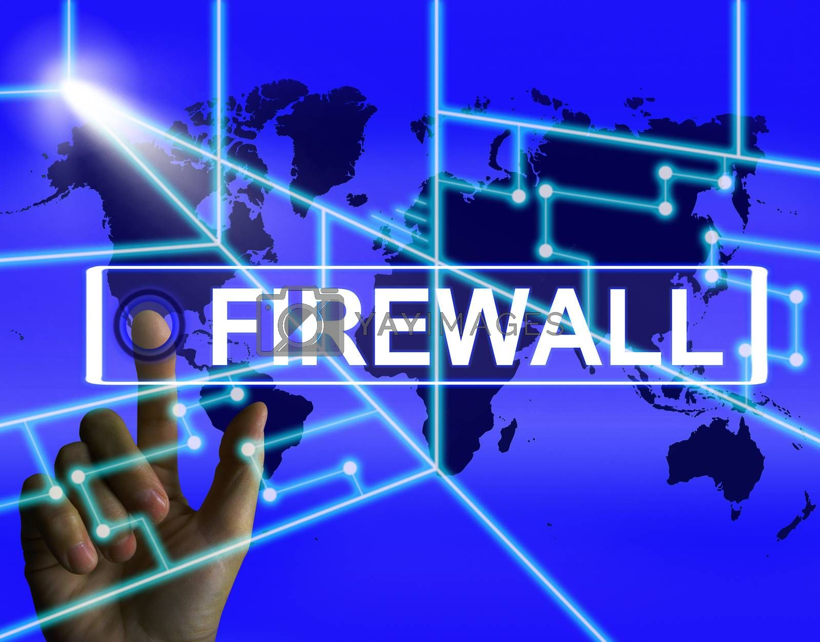 Firewall Screen Refers to Internet Safety Security and Protectio by stuartmiles