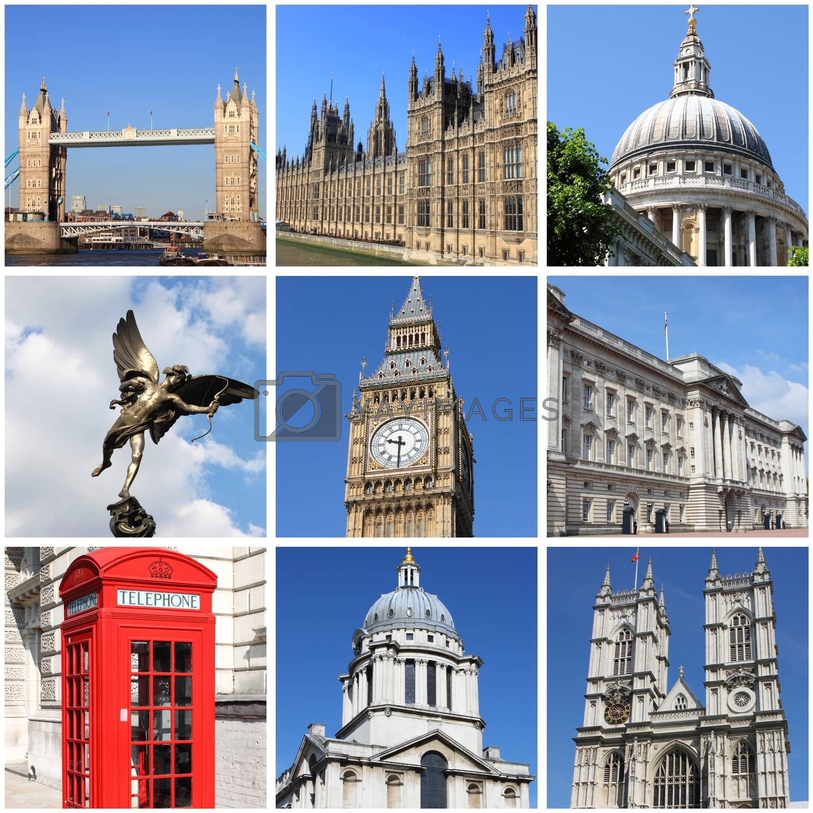 London landmarks collage by alessandro0770