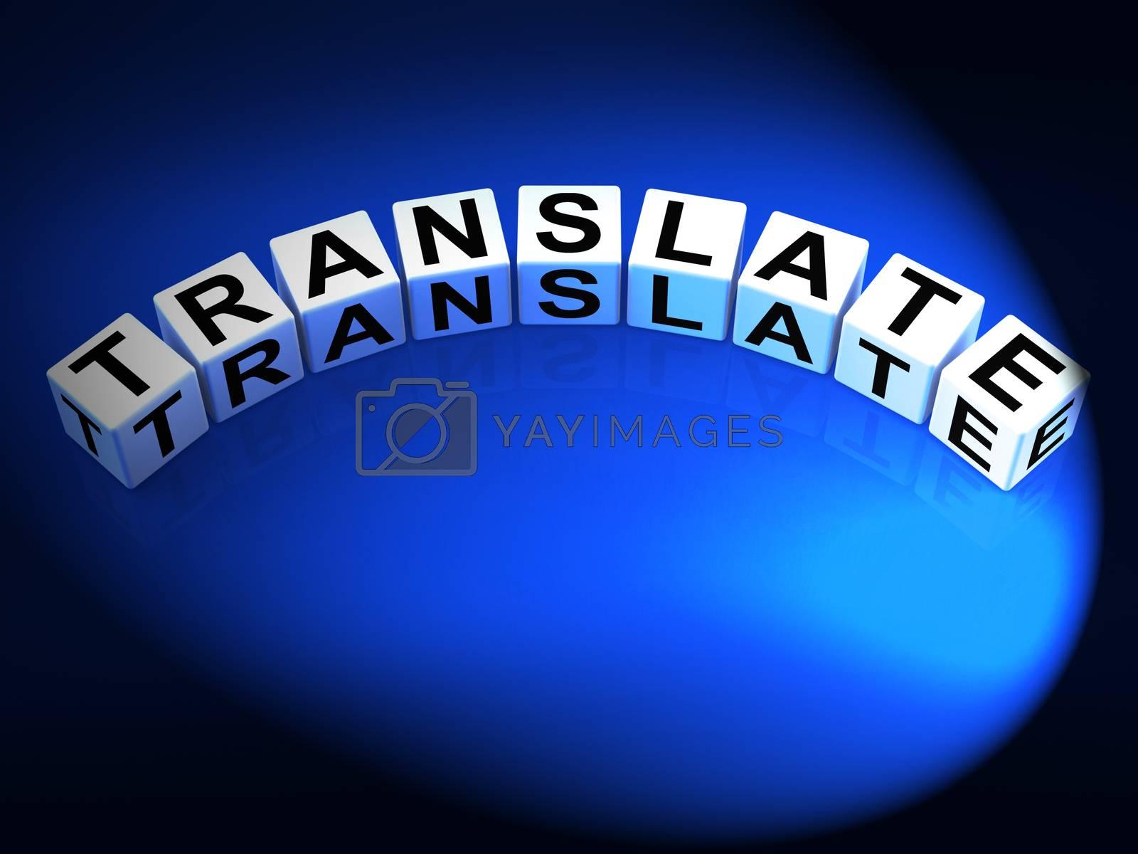 Translate Dice Show Multilingual or International Translator by stuartmiles