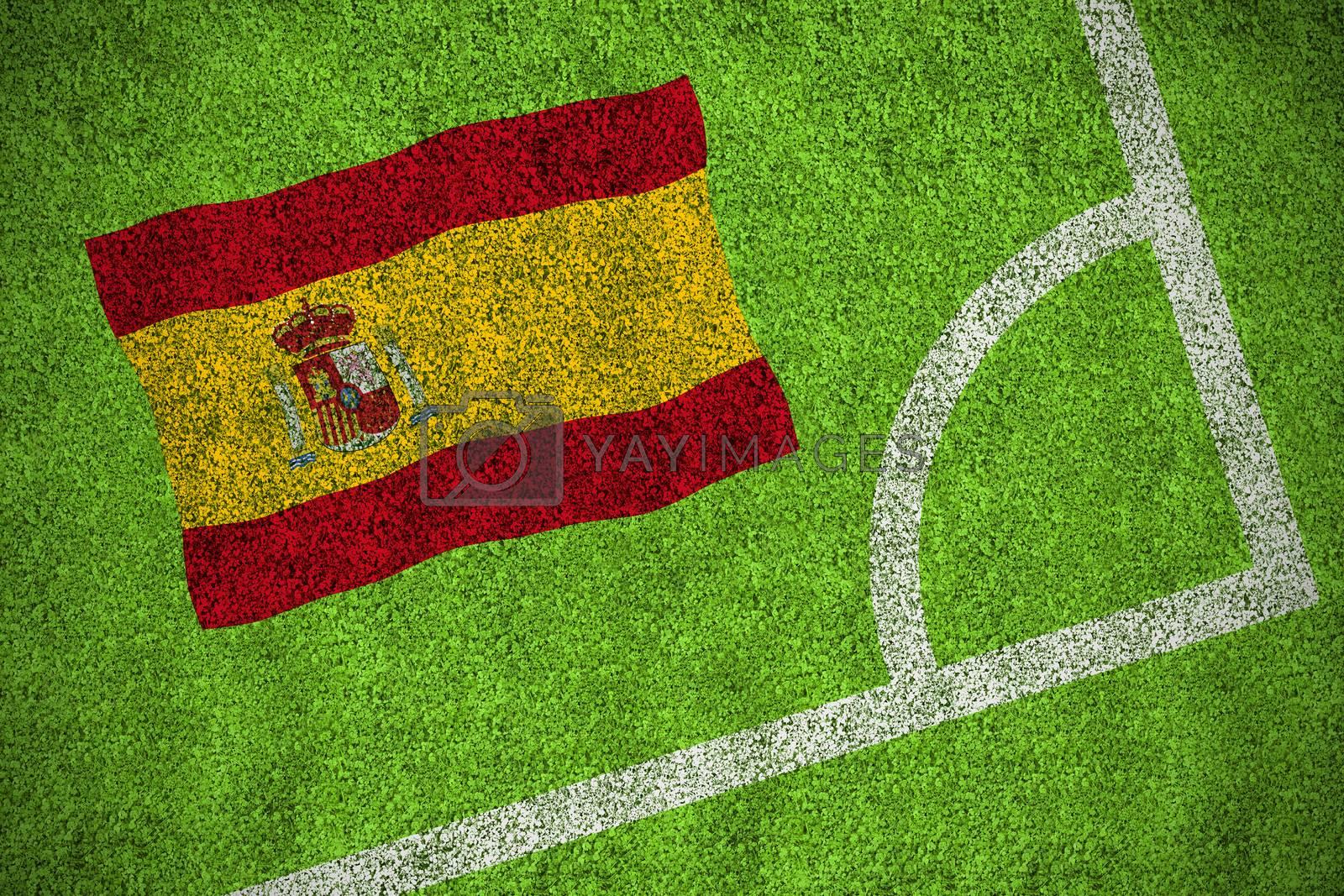 Spain national flag by Wavebreakmedia