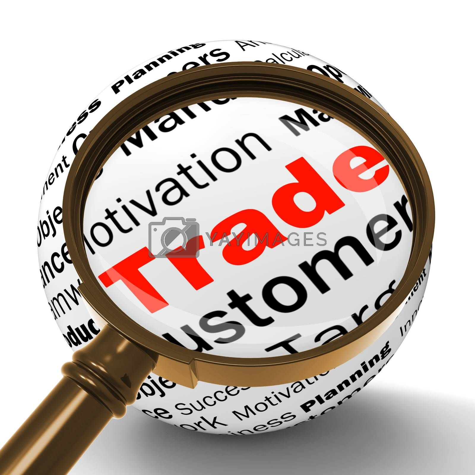 Trade Magnifier Definition Shows Stock Trading Or Sharing by stuartmiles