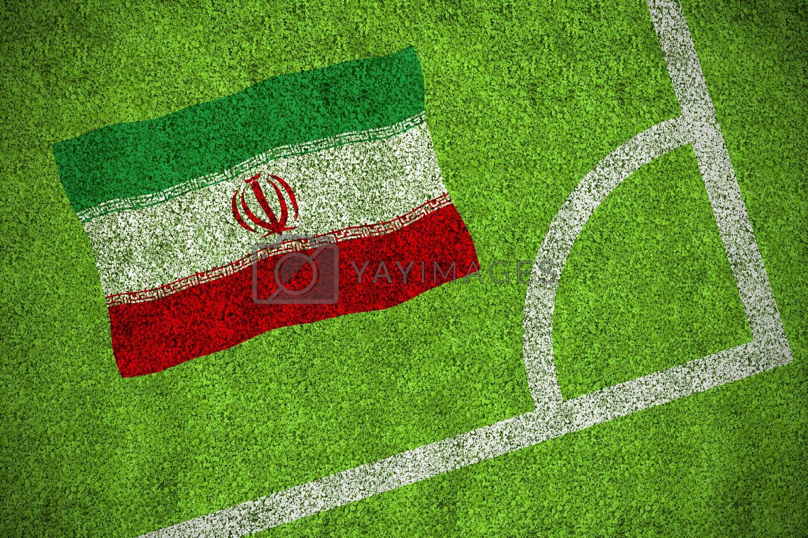 Iran national flag by Wavebreakmedia