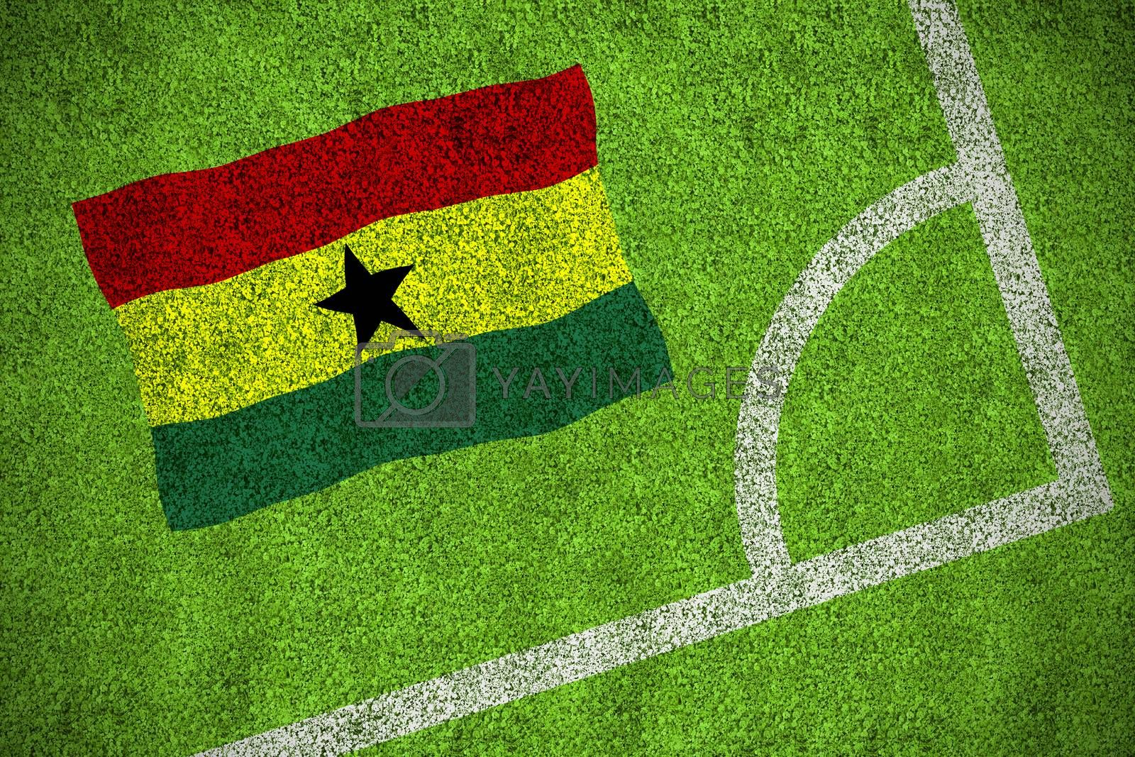 Ghana national flag by Wavebreakmedia