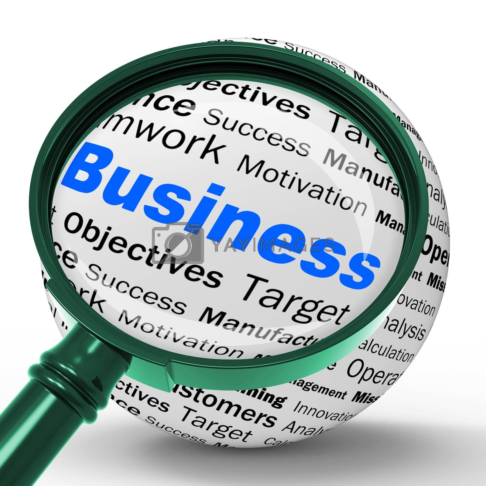 Business Magnifier Definition Means Corporative Transactions And by stuartmiles