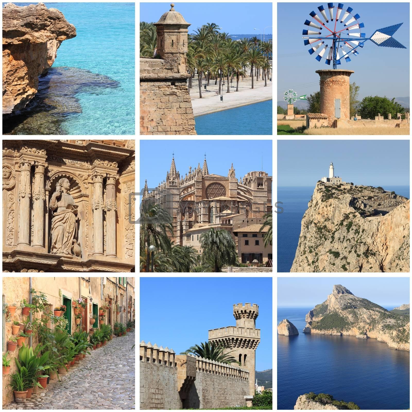 Mallorca Island landmarks collage by alessandro0770
