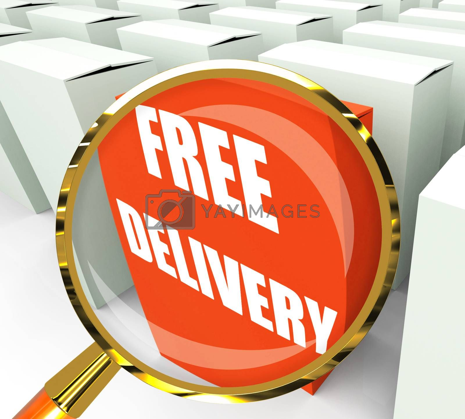 Free Delivery Sign on Packet Show No Charge To Deliver by stuartmiles