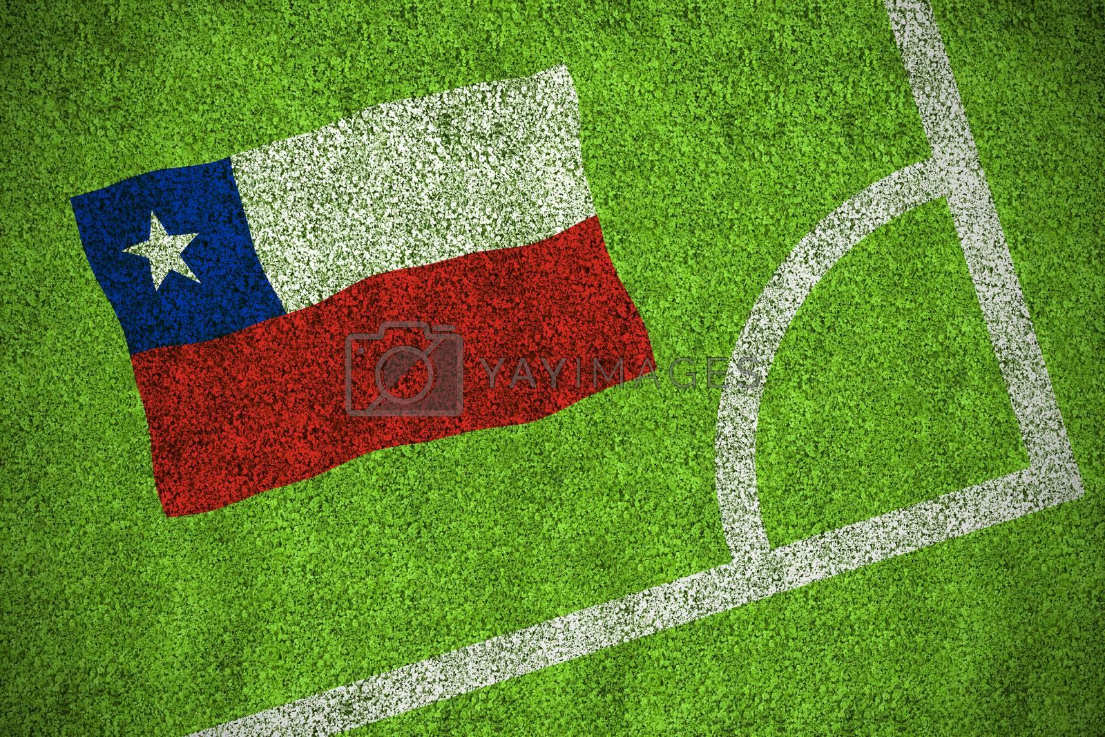 Chile national flag by Wavebreakmedia