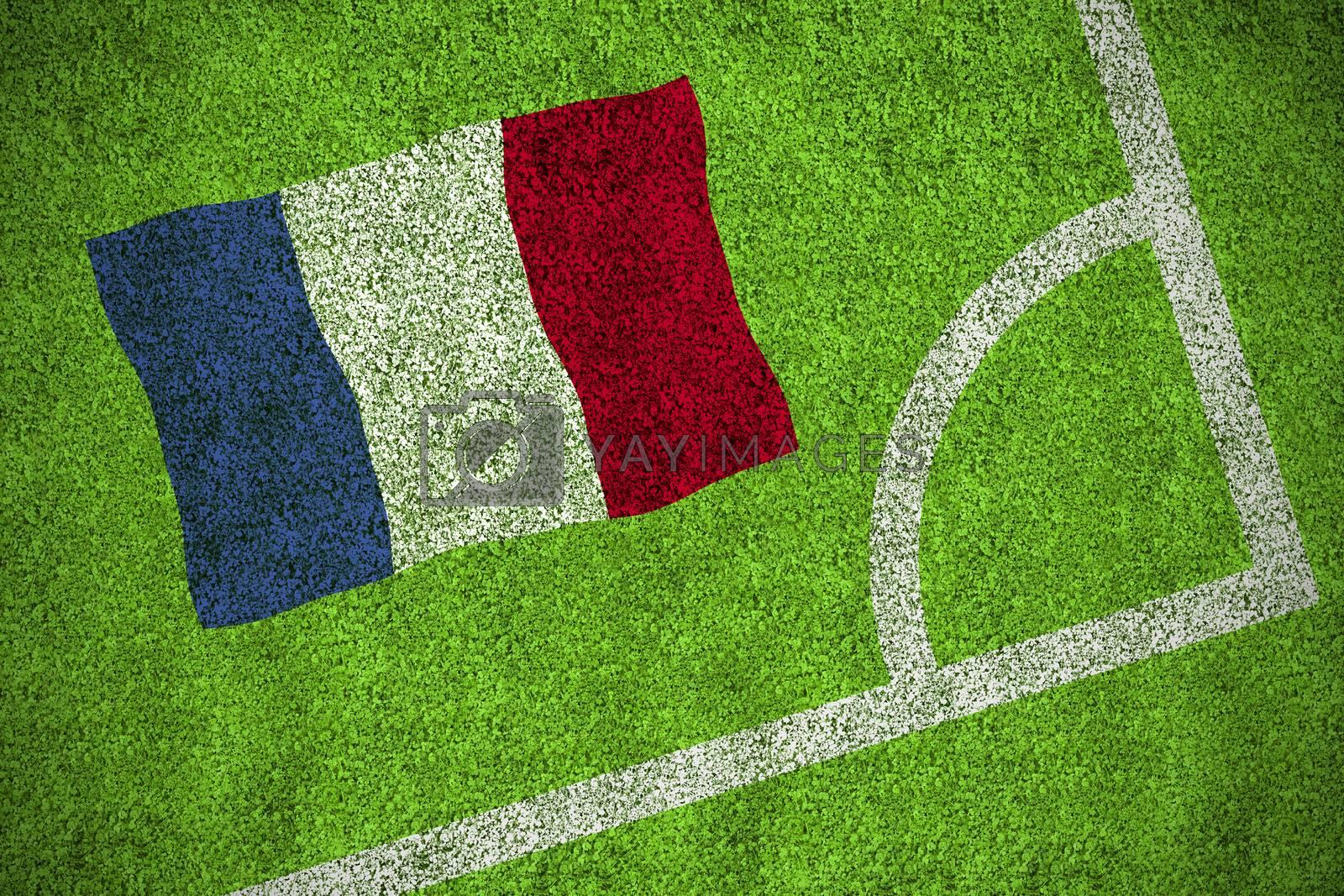 France national flag by Wavebreakmedia