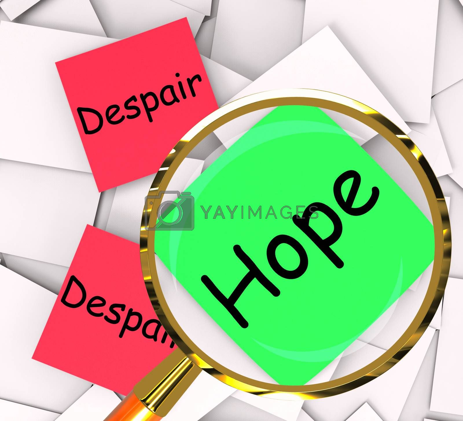 Hope Despair Post-It Papers Show Hoping Or Depression by stuartmiles