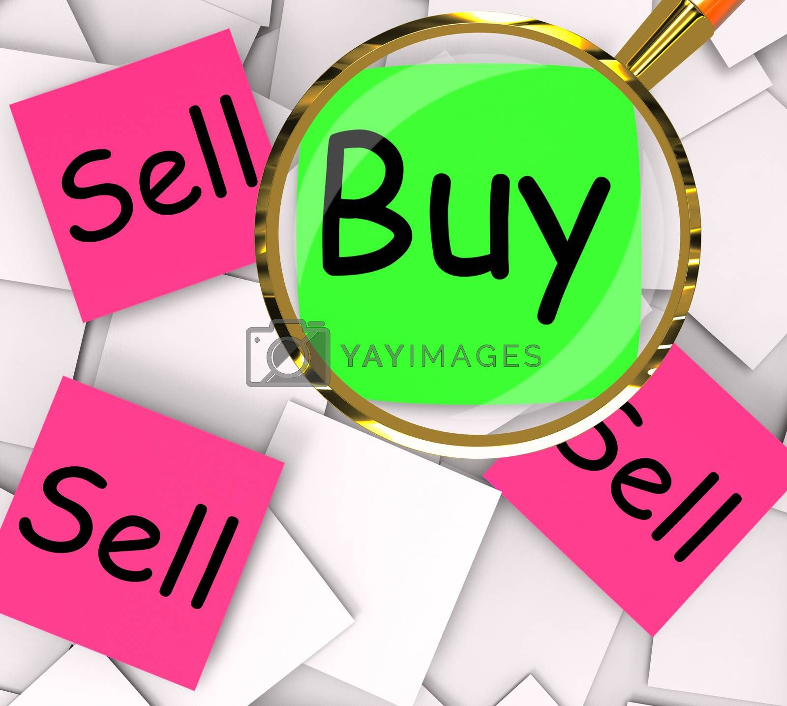 Buy Sell Post-It Papers Mean Buying And Selling by stuartmiles