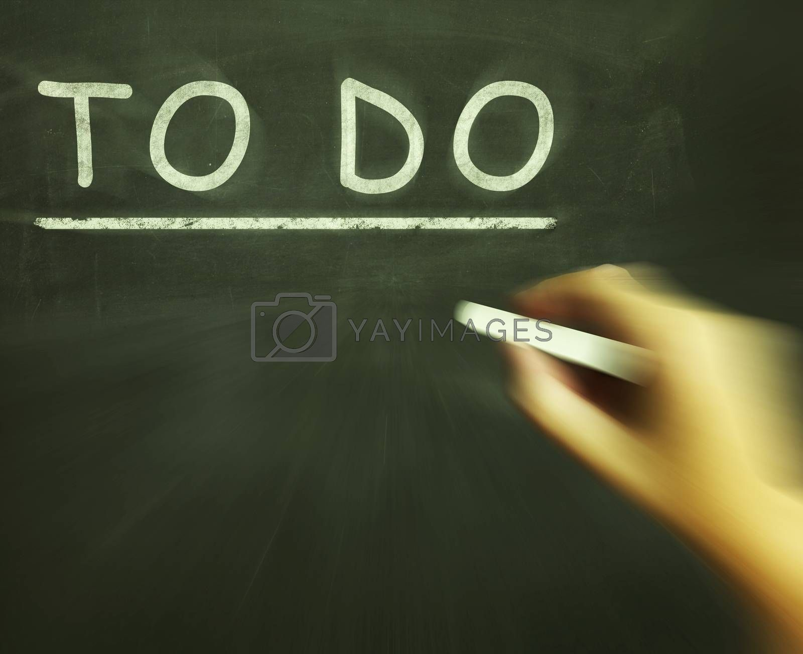 To Do Chalk Shows Agenda And List Of Tasks by stuartmiles