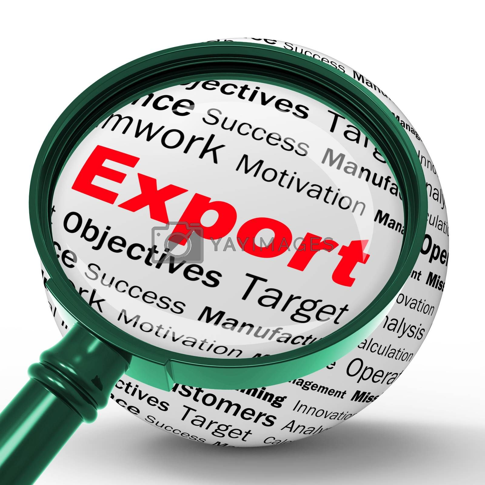 Export Magnifier Definition Shows Abroad Selling And Exportation by stuartmiles