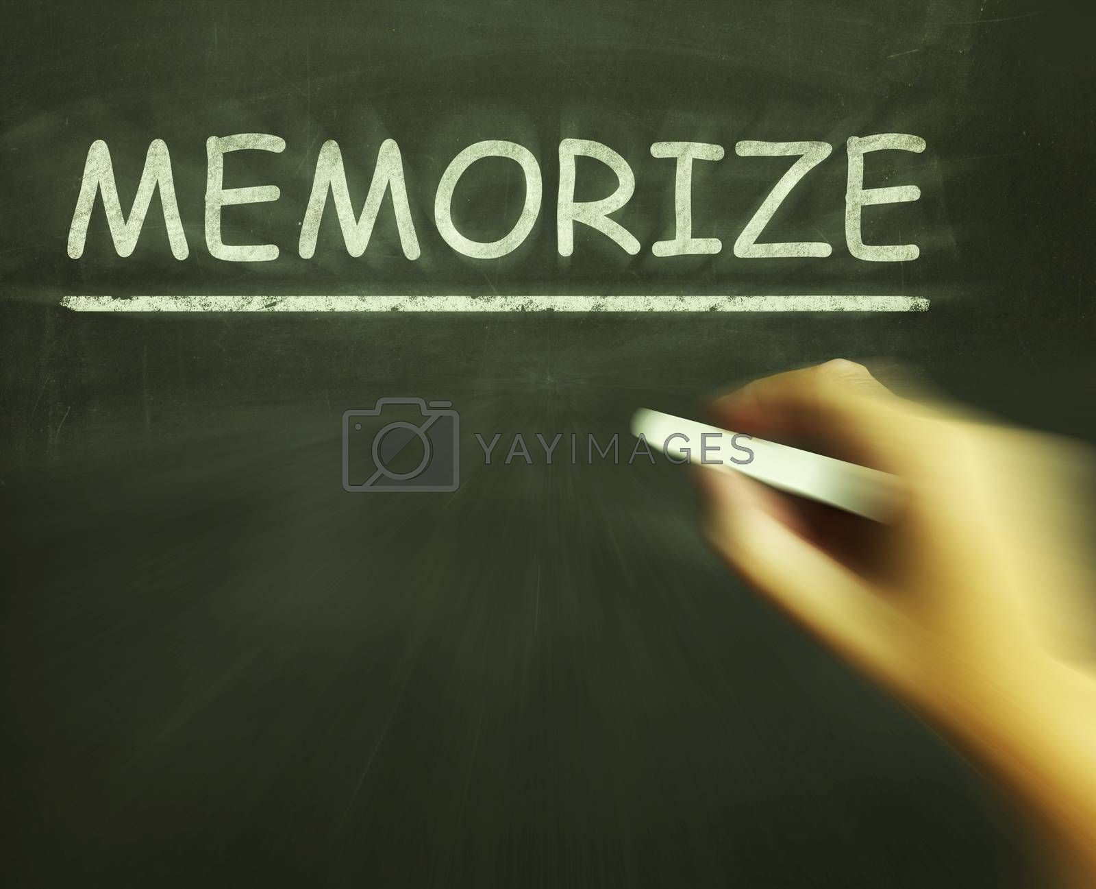 Memorize Chalk Shows Learn Information By Heart by stuartmiles