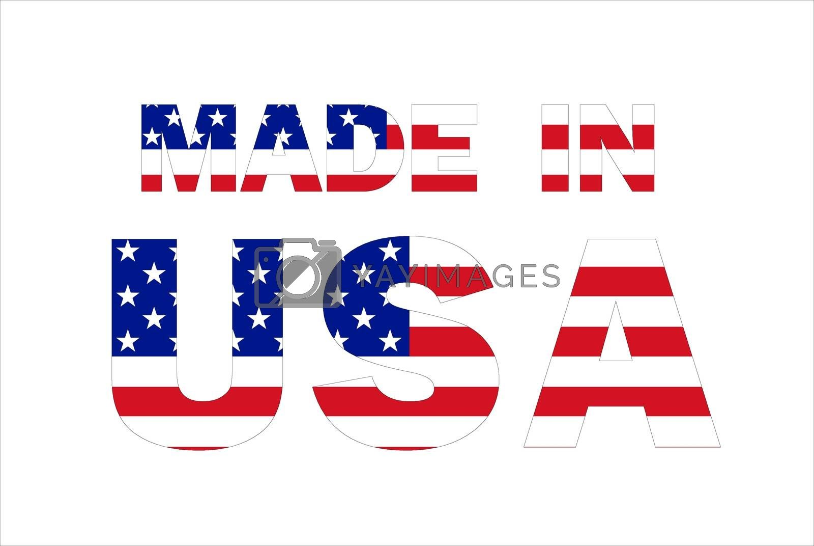 Made in USA text by alessandro0770