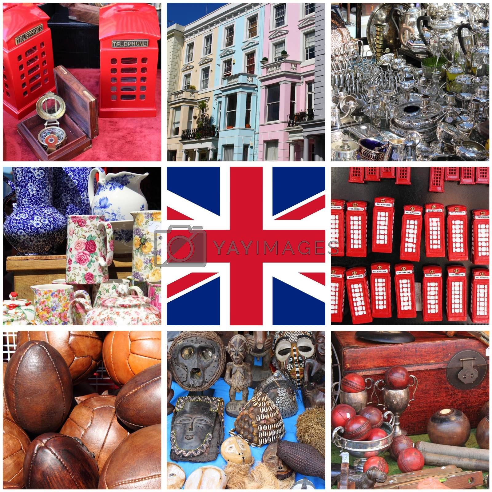 Collage of images of Portobello Road Market by alessandro0770