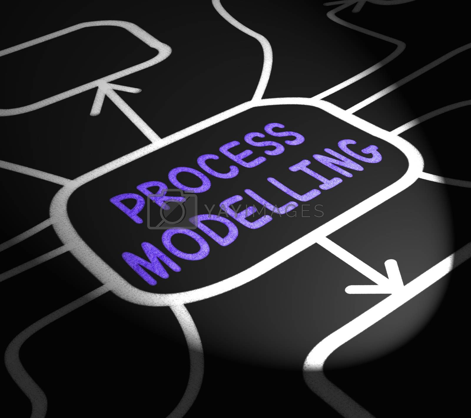 Process Modelling Arrows Shows Illustration Of Business Processe by stuartmiles