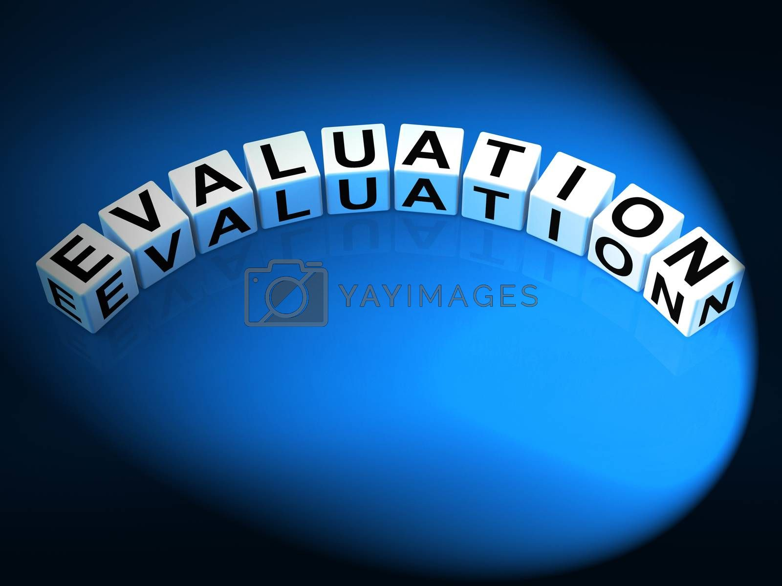 Evaluation Letters Show Judgement Assessment And Review by stuartmiles