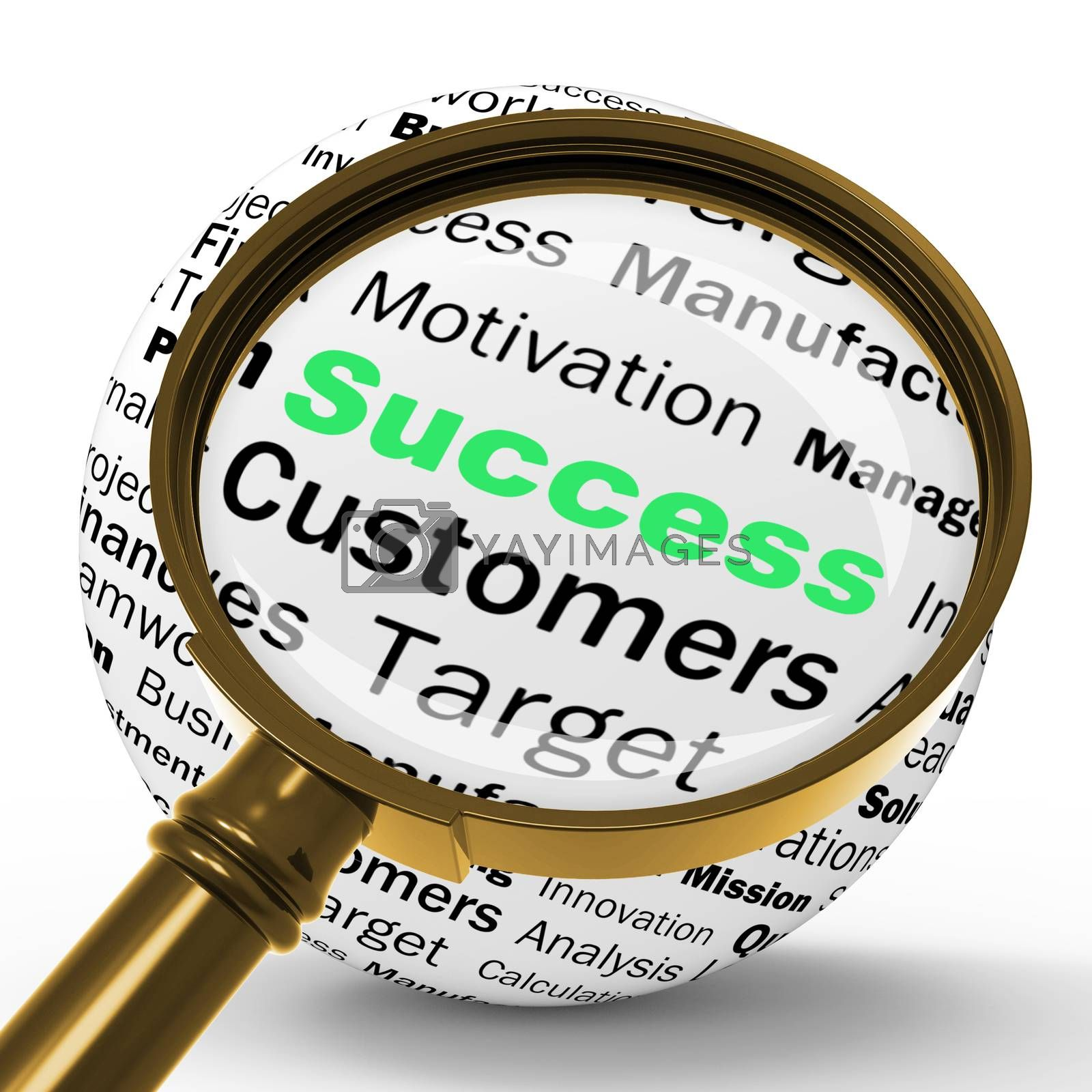Success Magnifier Definition Means Determination And Leadership by stuartmiles