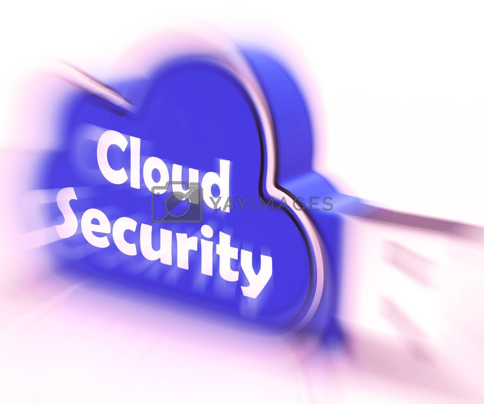 Cloud Security Cloud USB drive Means Online Security Or Privacy  by stuartmiles