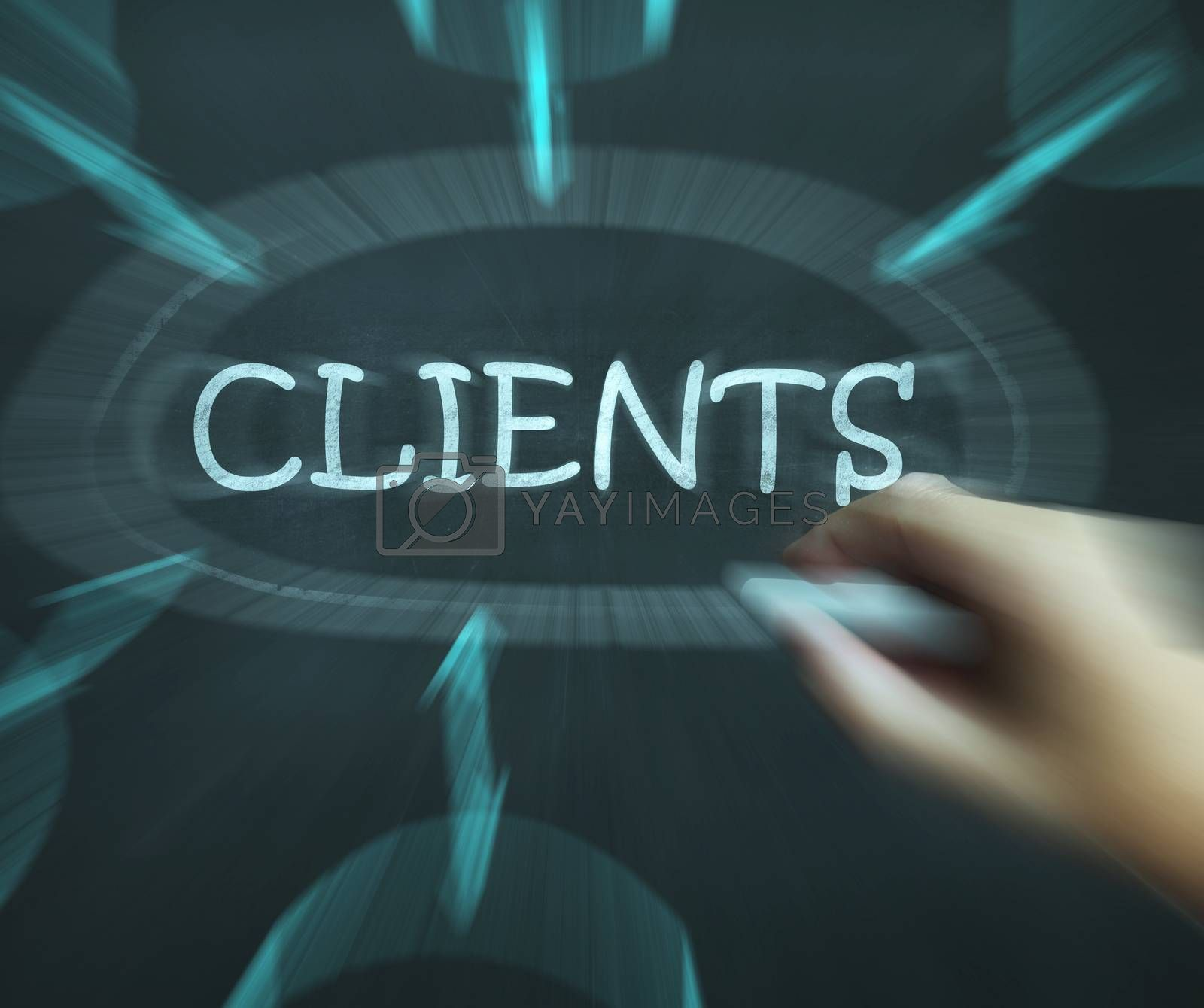 Clients Diagram Shows Customers Consumers And Clientele by stuartmiles