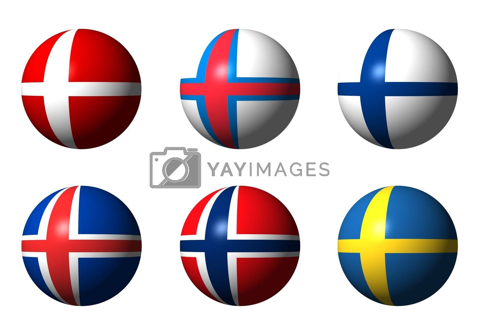 Collage of Scandinavian flags by alessandro0770