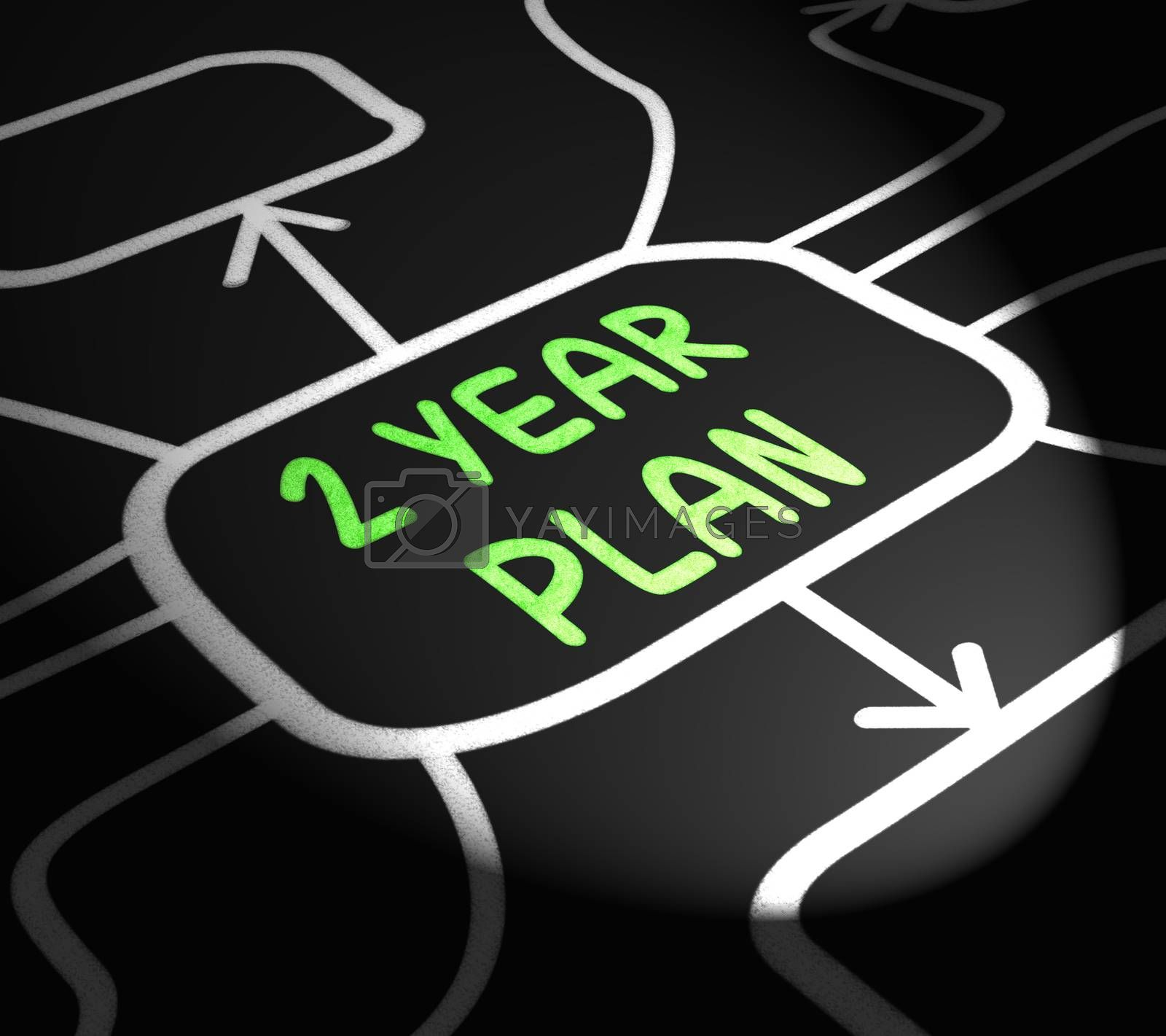 Two Year Plan Arrows Means Program For Next 2 Years by stuartmiles