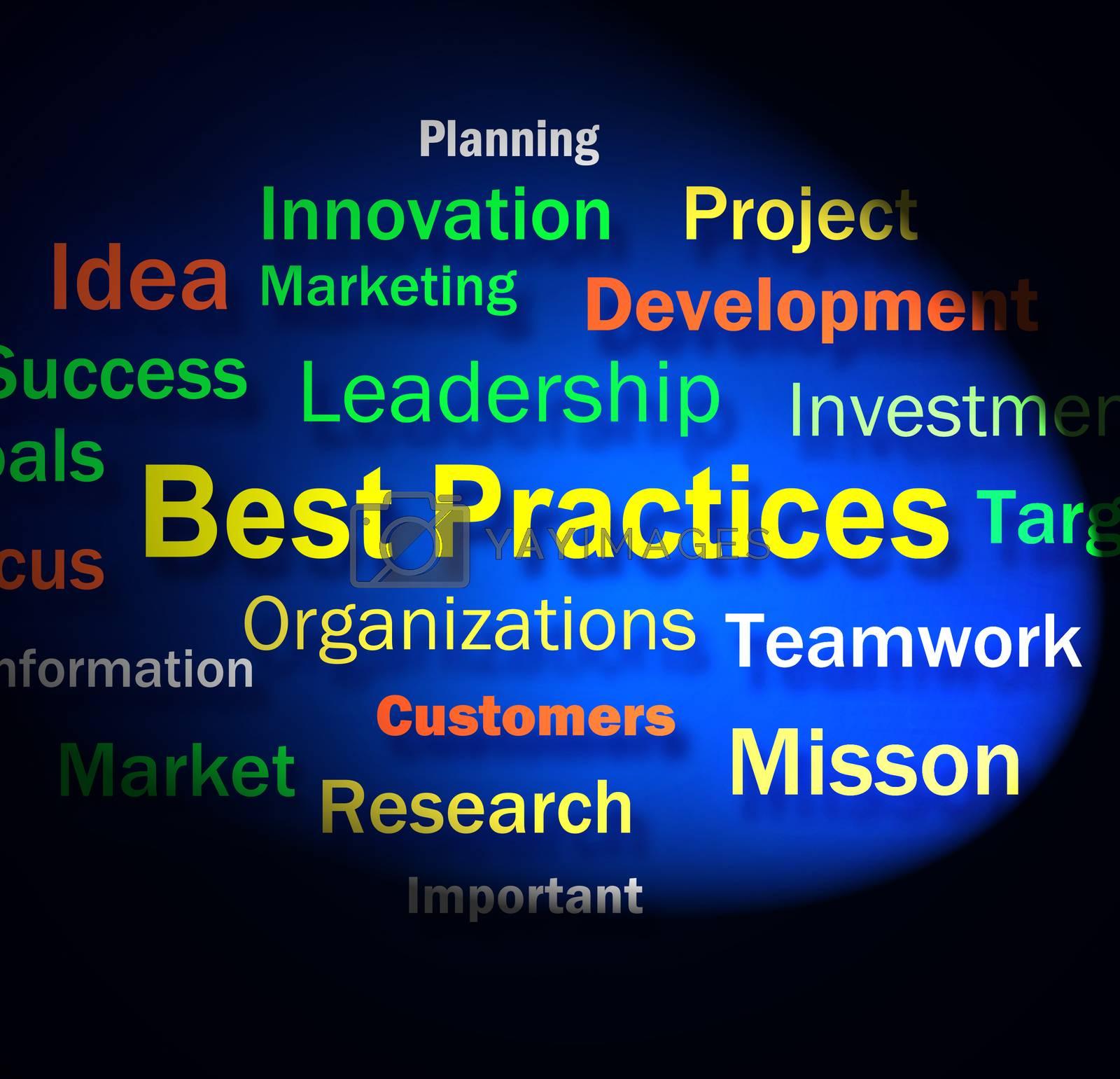 Best Practices Words Shows Optimum Business Procedures by stuartmiles