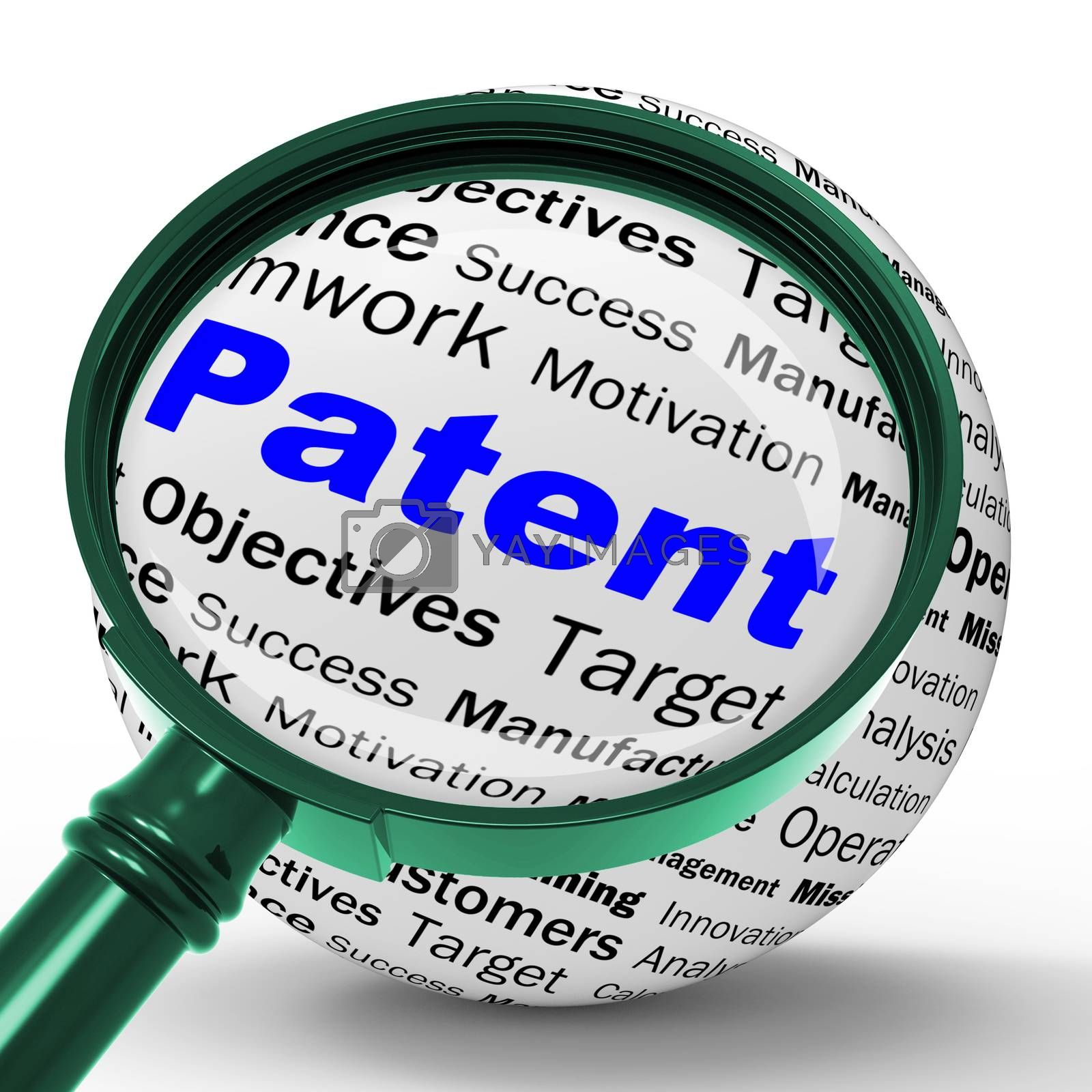 Patent Magnifier Definition Shows Protected Invention Or Legal D by stuartmiles