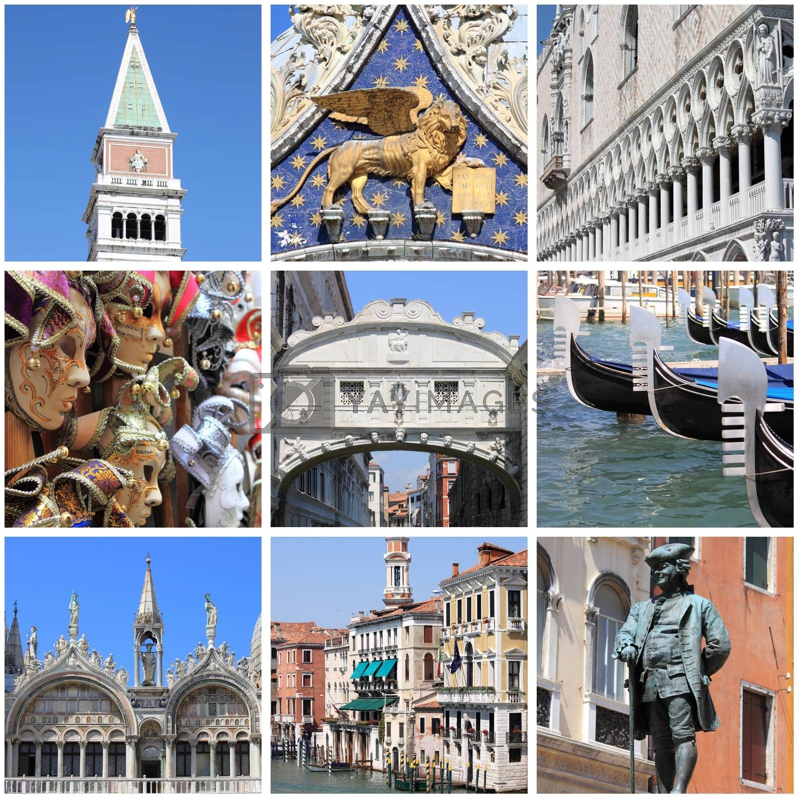 Venice landmarks collage by alessandro0770