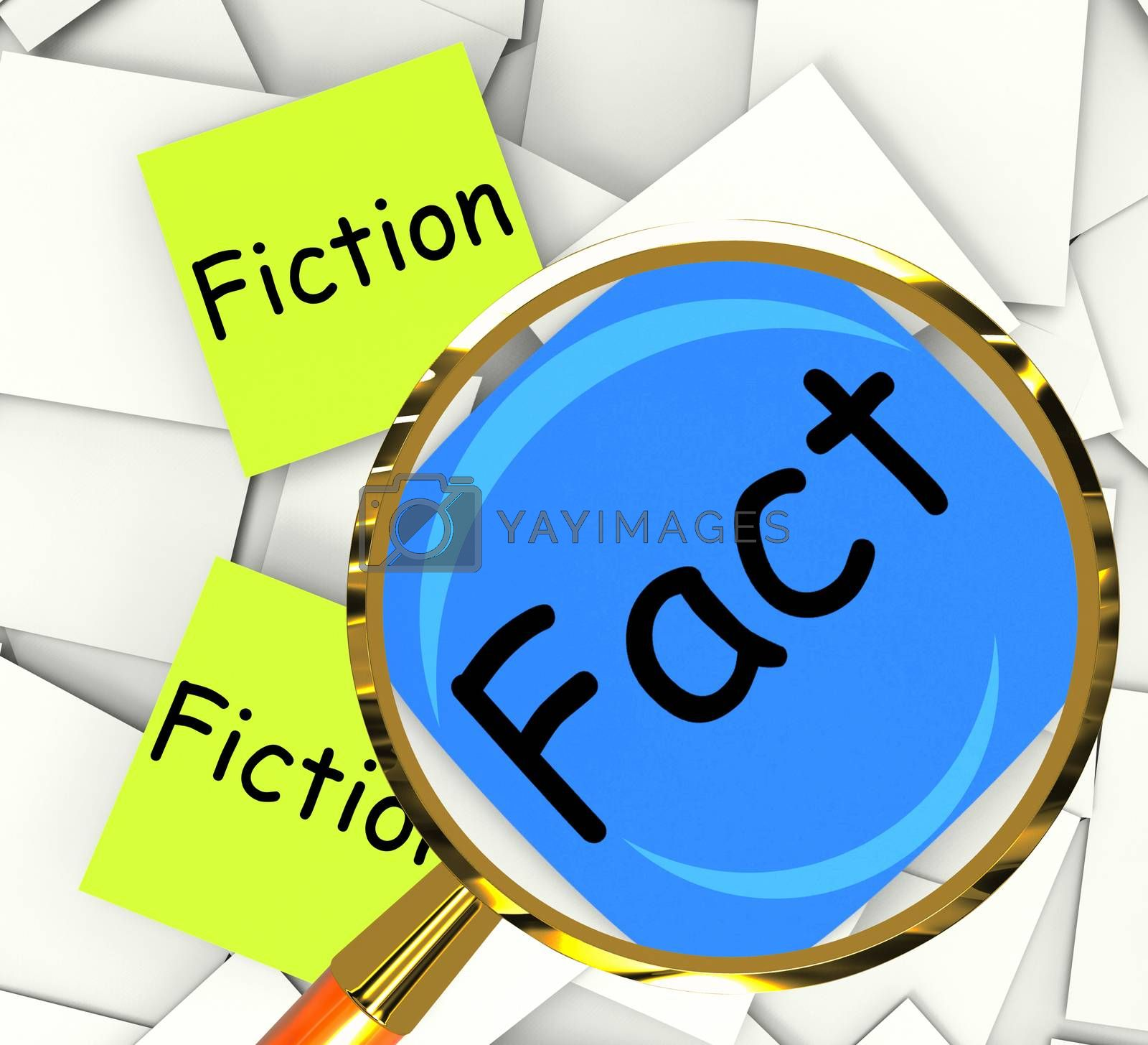Fact Fiction Post-It Papers Mean Correct Or Falsehood by stuartmiles