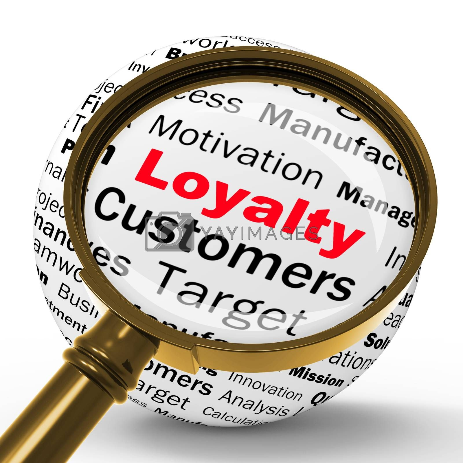 Loyalty Magnifier Definition Shows Honest Fidelity And Reliabili by stuartmiles