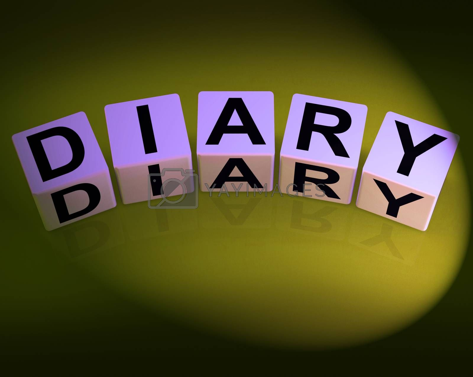 Diary Dice Mean Journal Blog or Autobiographical Record by stuartmiles