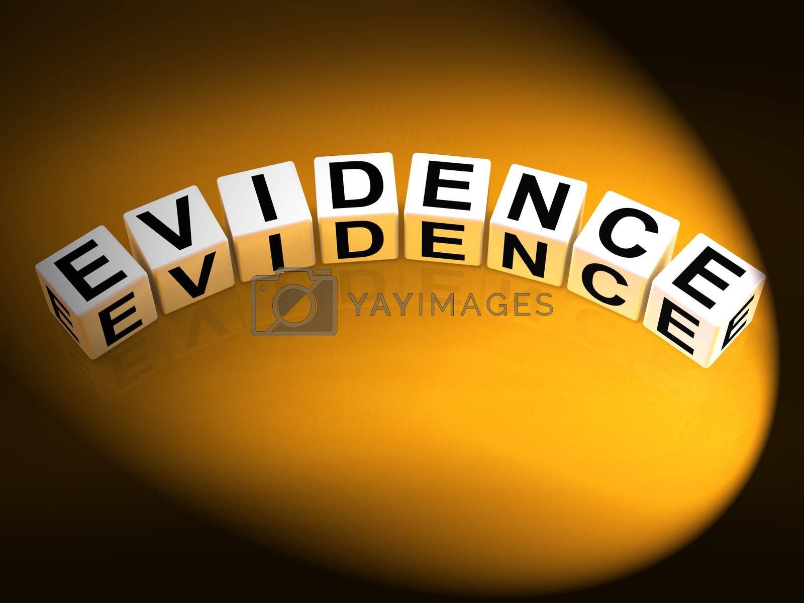 Evidence Dice Represent Evidential Substantiation and Proof by stuartmiles