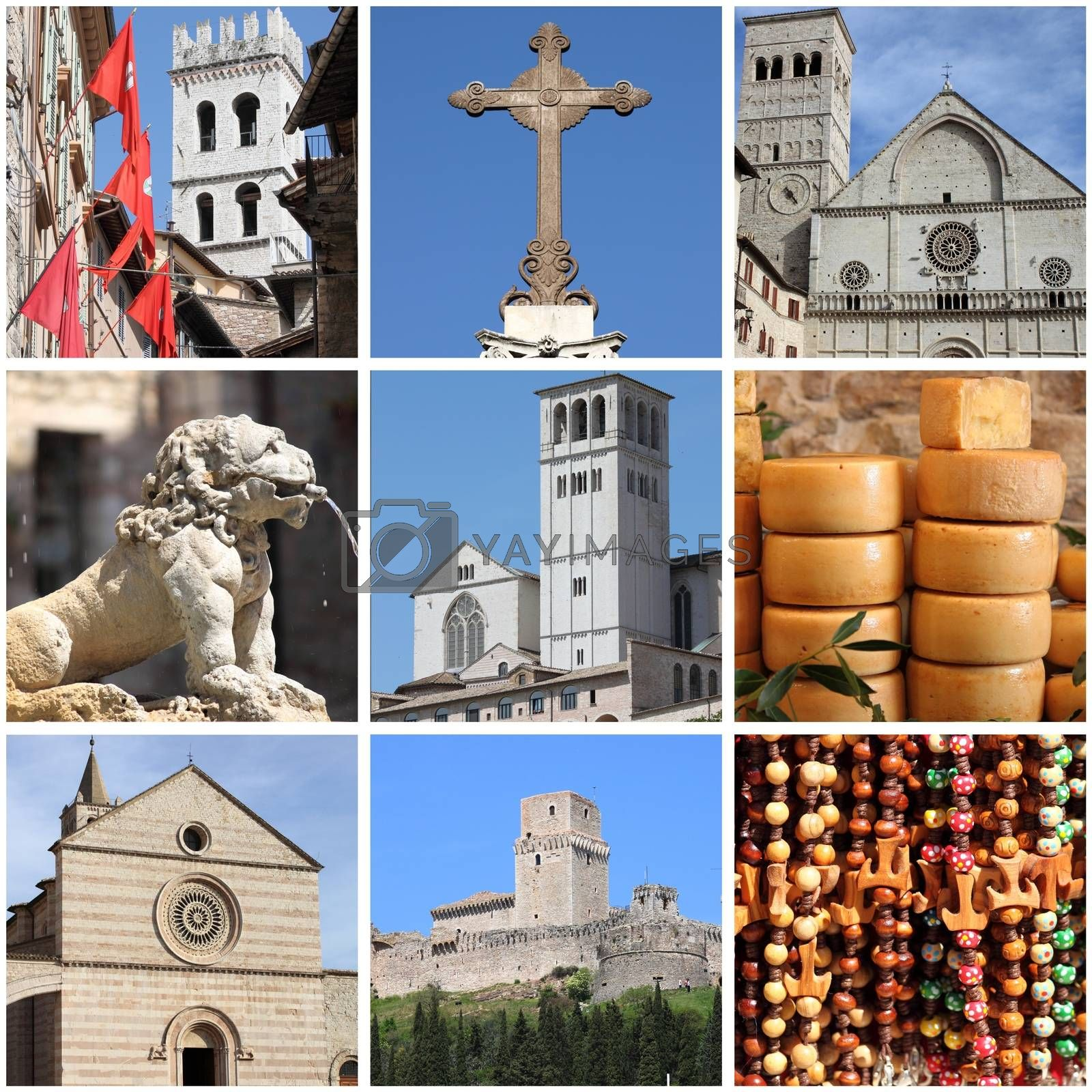 Assisi landmarks collage by alessandro0770