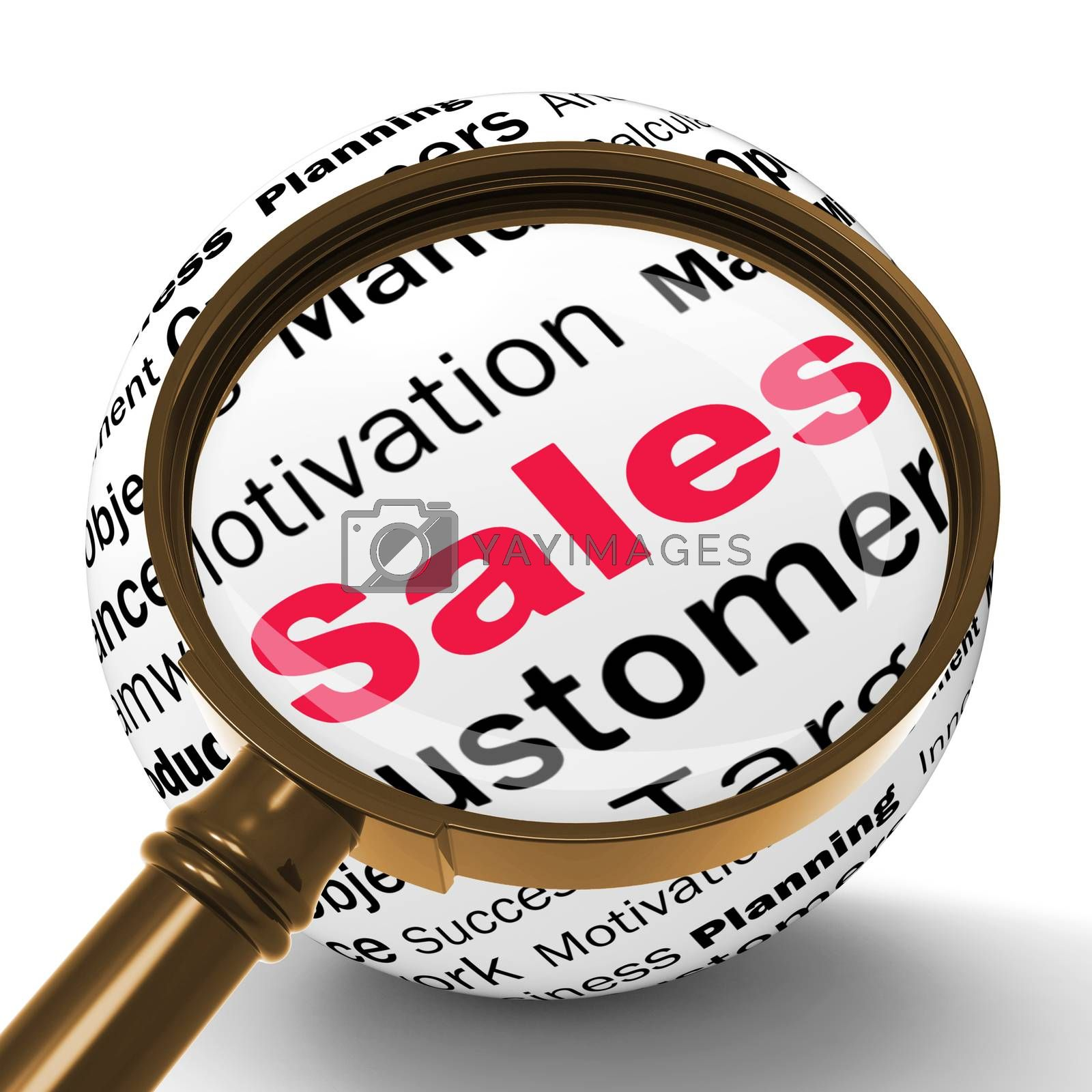 Sales Magnifier Definition Means Price Reduction And Clearances by stuartmiles