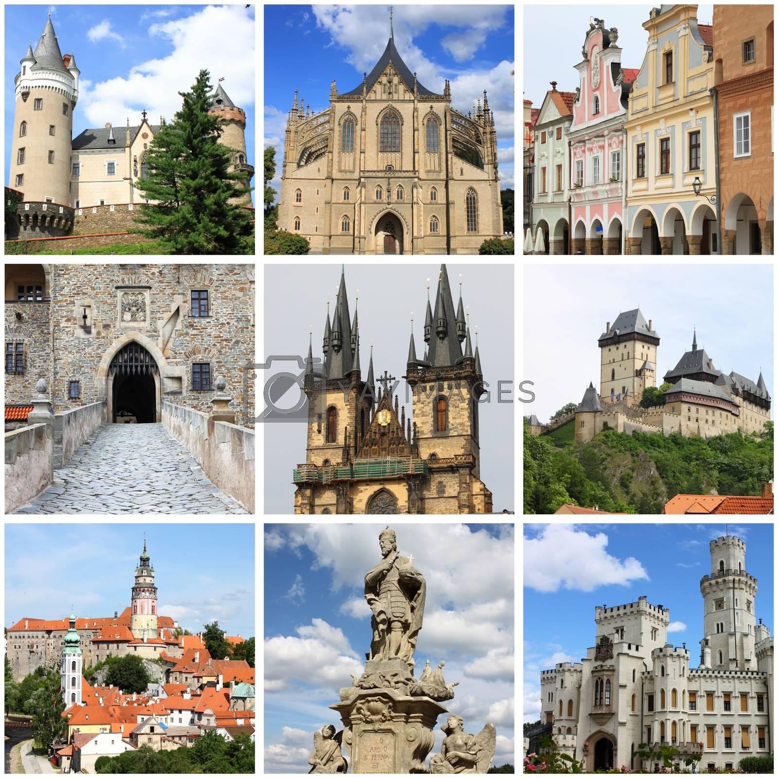Bohemia landmarks collage by alessandro0770