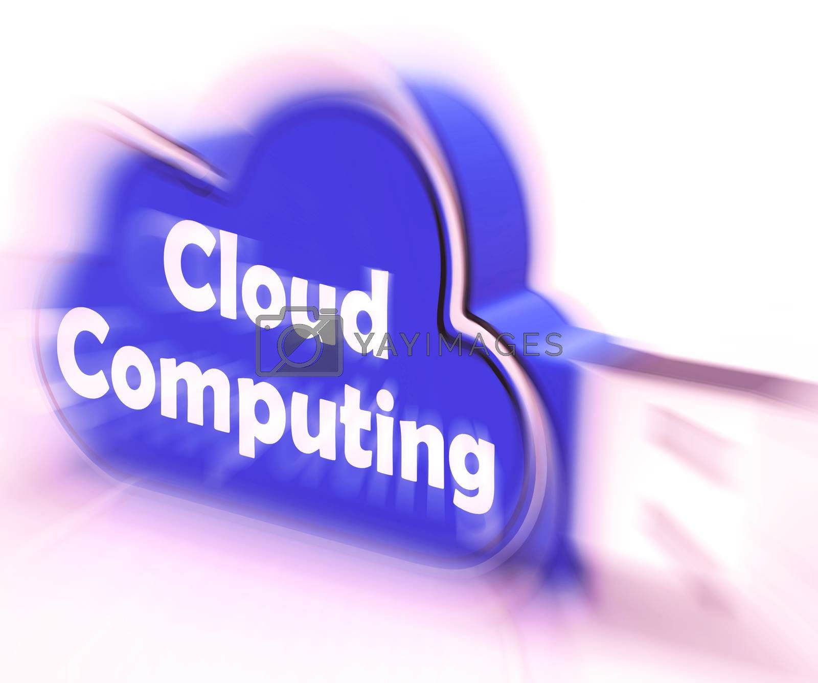 Cloud Computing Cloud USB drive Shows Digital Services And Onlin by stuartmiles