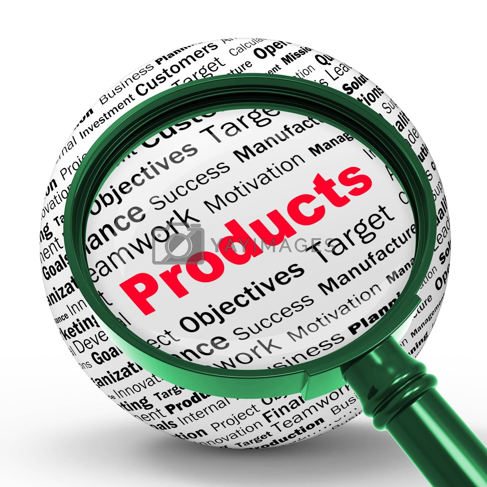 Products Magnifier Definition Shows Shopping Or Retail Purchases by stuartmiles
