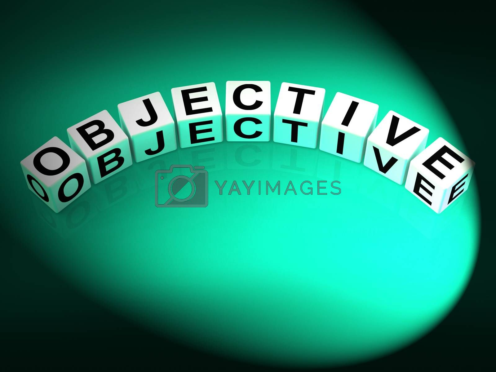 Objective Dice Mean Goals Targets and Objectives by stuartmiles