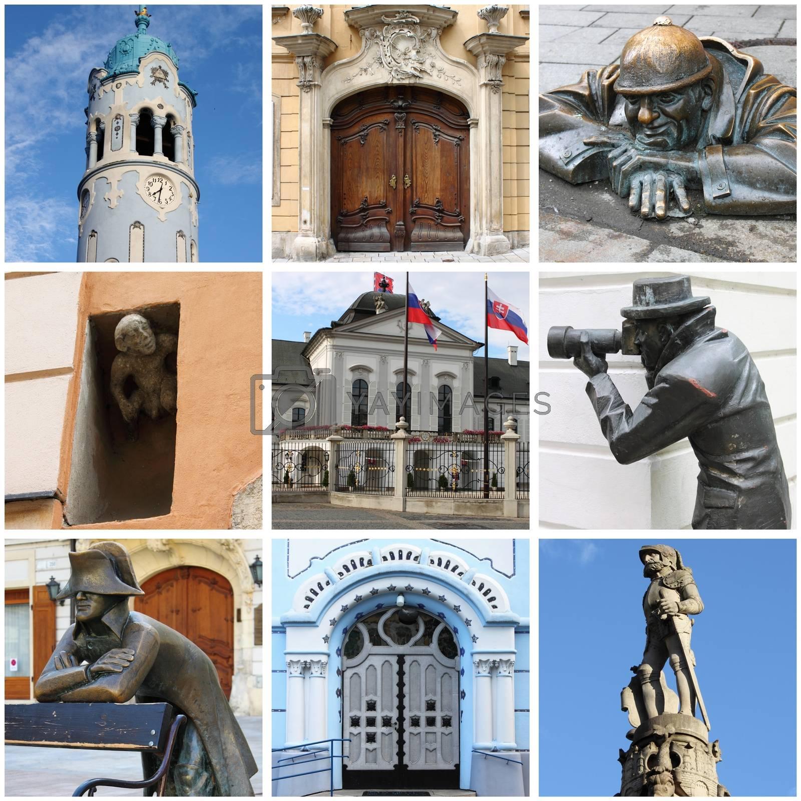 Bratislava landmarks collage by alessandro0770